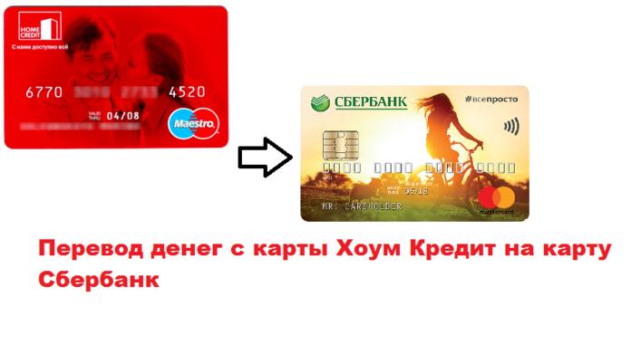 переводы Хоум кредит- Сбербанк