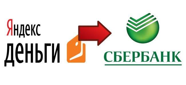 Порядок перевода: Яндекс-Сбербанк