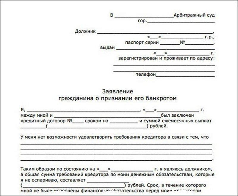 Заявление в суд о банкротстве: пример и особенности написания