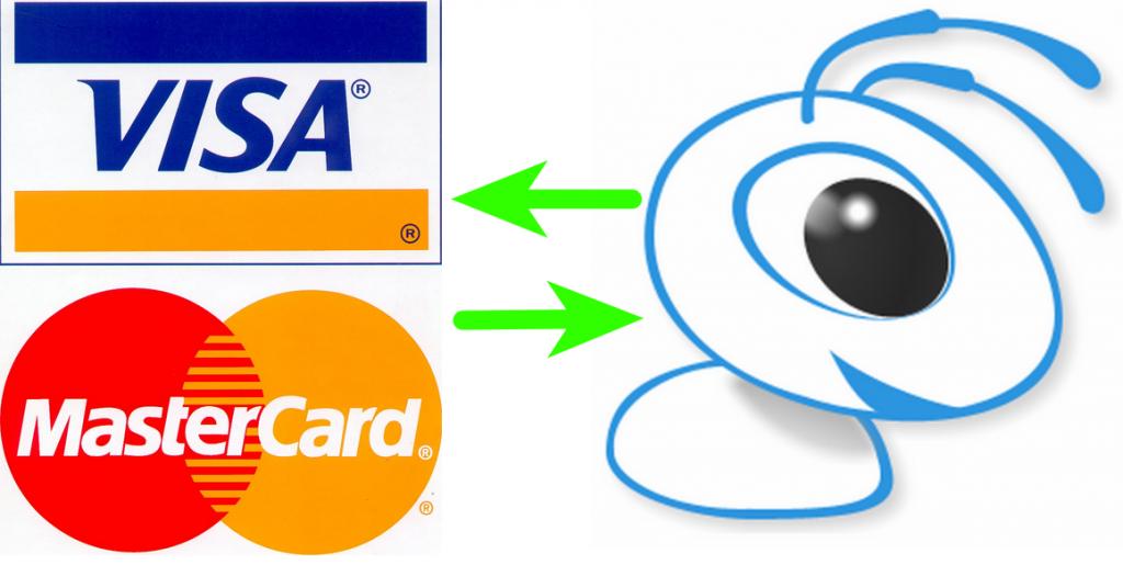 пополнение Вебмани с VISA и Mastercard